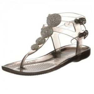 Juicy Couture Grey Hermosa Gladiator Jelly Sandals